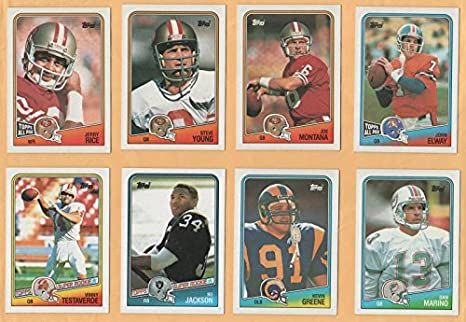 Amazoncom 1988 Topps Football Complete 396 Card Set Nrmtmt Bo
