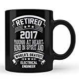 Retired Electrical Engineer Retirement Gift Mug - Electrical Engineer Unique Special Retirement Gift For Family father Mother Uncle Aunt Friends Colleagues Professional Black Coffee Mug By HOM
