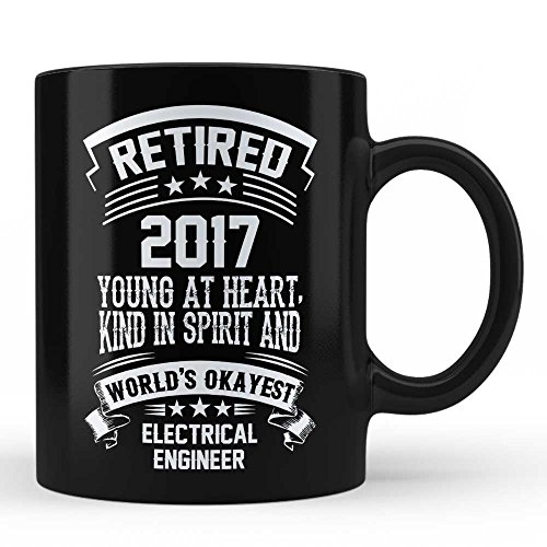Retired Electrical Engineer Retirement Gift Mug - Electrical Engineer Unique Special Retirement Gift For Family father Mother Uncle Aunt Friends Colleagues Professional Black Coffee Mug By HOM by Home Of Merch