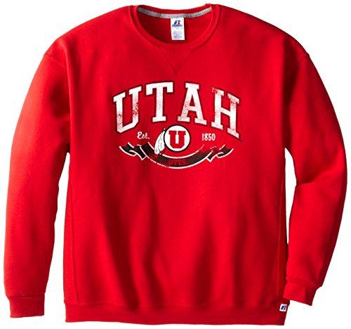 NCAA Utah Utes Men's Dri-Power Fleece Crew, True Red, Large