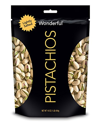 - Wonderful Pistachios, Lightly Salted, 16 oz Pouch