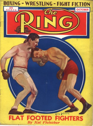 The Ring [Boxing Magazine] October 1935 (Flat Footed Fighters Cover)