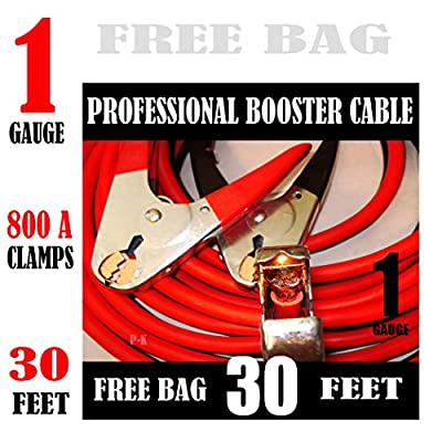 Industrial Heavy Duty 30 feet 1 Gauge Booster Jumper Cable