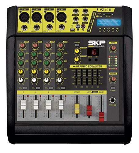 SKP PRO AUDIO VZ-40 II Recording Stereo power Output 200w + 200w @ 4 ohm POWERED MIXER ()