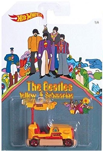 BUMP AROUND 2016 Hot Wheels THE BEATLES 50th Anniversary YELLOW SUBMARINE 1:64 Scale Collectible Die Cast Metal Toy Car Model 1/6 by California Mattel