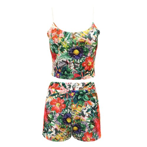 Envy Boutique - Pantalón corto - para mujer Tropischer Aufdruck