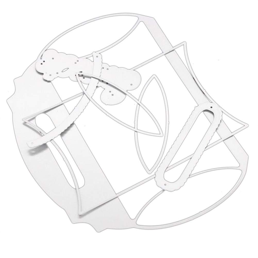 Luo 401xx Cutting Dies Handbag Gift Box Design Metal Stencil Diy Scrapbooking Templates For Album Paper Cards Decorative Craft Silver Amazon Co Uk Kitchen Home