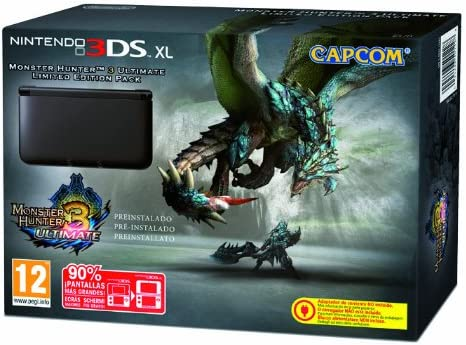 Nintendo 3DS - Consola XL, Color Negro (Incluye Monster Hunter 3): Amazon.es: Videojuegos