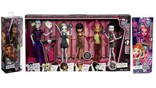 Monster High Bundle 7 - Student Disembody Council and Clawdeen Wolf and Gigi Grant (Monster High Gigi)