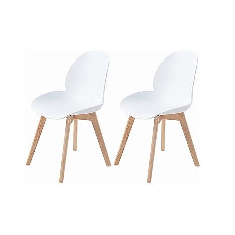 H.J WeDoo Set di 2 Sedie Cucina Moderne in Plastica, Scandinavo ...