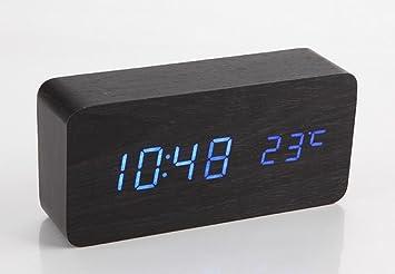SSBY Holz Aufladen LED Wecker, Kreative Niedlichen Digitaluhr, Schlafzimmer  Desktop Uhr 150 *