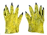 October Elf Halloween Party Costume Gloves Adult Latex Monster Hands (Yellow)