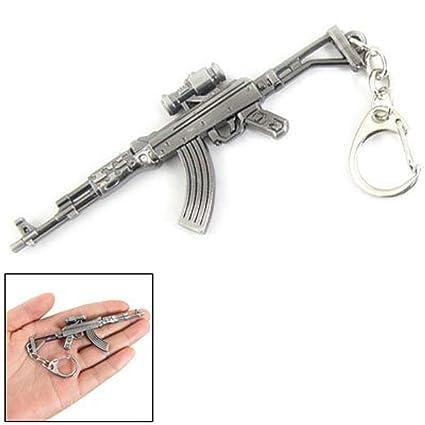 Mallofusa miniatura gris metal AK47 pistola Rifle Modelo ...