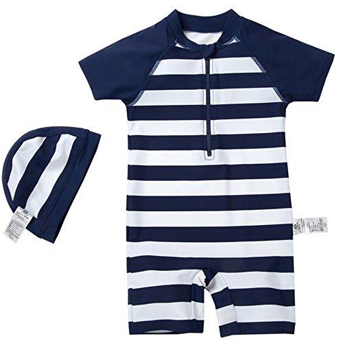Mini Balabala Baby Swimsuit Stripes Printed