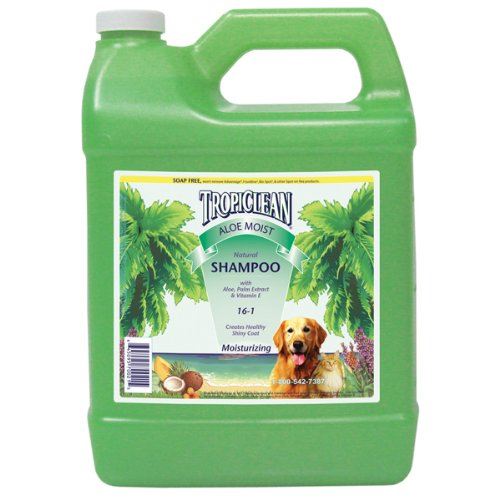 TropiClean Natural Aloe Moist Pet Shampoo, 1-Gallon, My Pet Supplies
