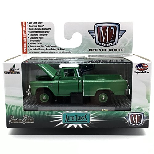 M2 Machines 1958 GMC Suburban Carrier 4x4 (Green with White Roof) Auto-Trucks Series Release 36-2015 Castline Premium Edition 1:64 Scale Die-Cast Vehicle (R36 15-81)