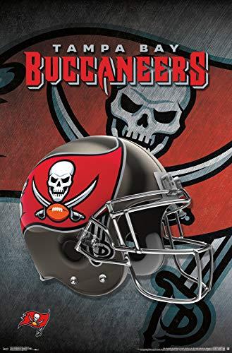 Trends International Tampa Bay Buccaneers-Helmet Mount Bundle Wall Poster 22.375