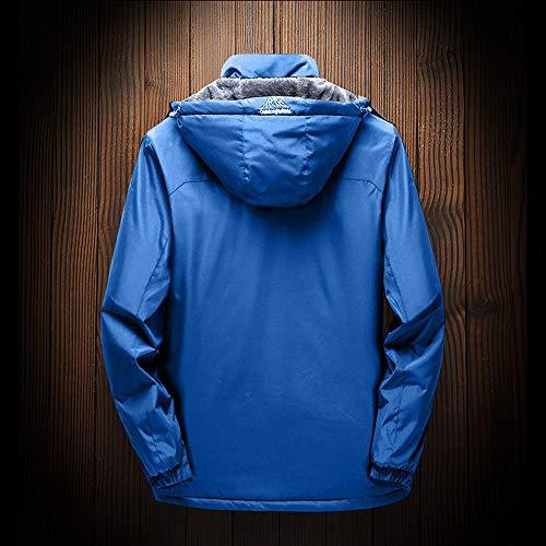 Vento Spesso Strato Prega Outwear Lunga Blu In Immagine Con Pile Per Terza La Jerkins Si Manica 6 Taglie Caldo Tabella Controllare Mens Zip Uomini Esailq Inverno Cappuccio In Di xzOwq6RR8n