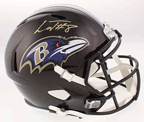 1cbb9e065 Authentic Lamar Jackson Autographed Signed Baltimore Ravens Full-Size Speed  Helmet (Beckett COA)