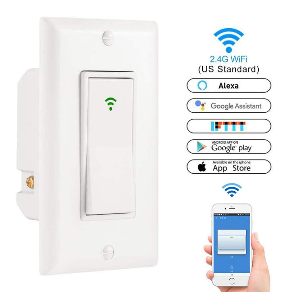 Smart WiFi LED Light Switch Wall Panel Mobile APP Remote Control