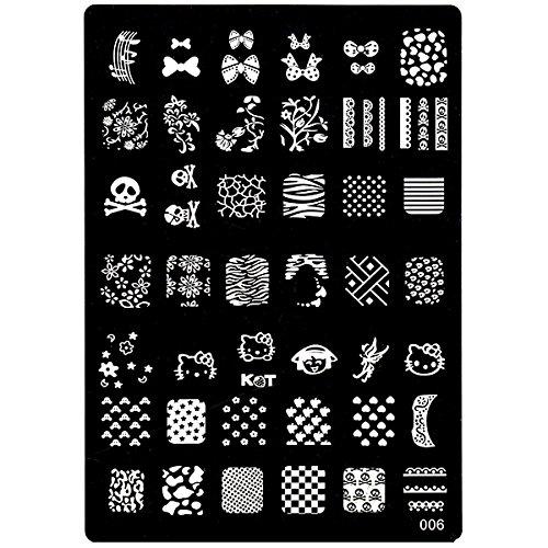 Stampini nail art in dimensioni A5 + stampini reversibili con raschietto per nail art INGINAILS