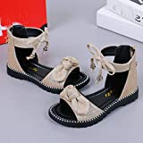 Lurryly Sandals for Girls Age 9,Sandals for Girls 8 Years Old,Black Sandals for Toddler Girls Size 6,Slippers for Girls Size 3,Cowgirl Boots for Girls Size 5,Gold,Recommended Age:5-6Years,US:11.5C