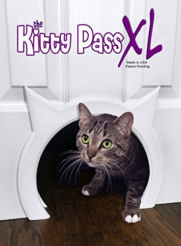 Fat Cat Kitty - The Kitty Pass XL Large Cat Door, Interior Large Pet Door Hidden Litter Box.