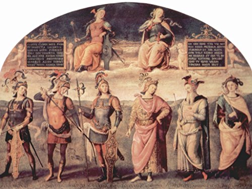 - Lais Jigsaw Pietro Perugino - Frescoes of The Sala d'Udienza in The Collegio del Cambio in Perugia, Scene: Prudenzia and Justice with Ancient sages 1000 Pieces