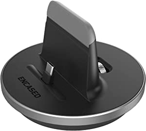 Encased Galaxy Note 20 Ultra/ 10/10 Plus Charger Stand USB Type C (Supports 25W Fast Charging) Desktop Charging Dock Station for Samsung Note 10/10+ Case Friendly Design (AC Adapter Not Included)