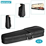 #6: Neewer Black 4/4 Full Size Professional Triangular Shape Violin Hard Case with Super Lightweight Suspension for 4/4 Full Size Violins
