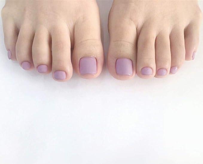 Uñas Postizas Parche De Uñas De Color Púrpura Claro Para ...