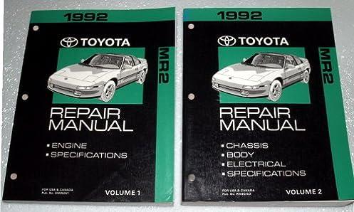 1992 toyota mr2 repair manuals sw20 sw21 series 2 volume set rh amazon com 1996 Toyota MR2 1989 Toyota MR2