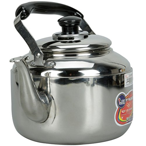Stainless Steel Tea Kettle 4L Hot Water Stovetop Classic Design Hums When Water Boils by DINY Home & Style (Image #4)