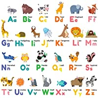 Decowall DW-1614 Colourful Animal Alphabet ABC Kids Wall...
