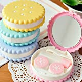 Case Square® Cookie Biscuit All-In-One Contact Lens Case Box - Random Color