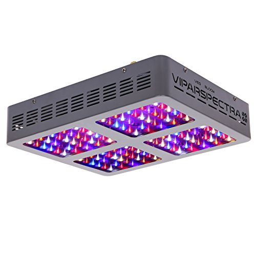 VIPARSPECTRA Reflector-Series V600 600W LED Grow Light Full Spectrum for Indoor Plants Veg and Flower, Have Daisy Chain Function