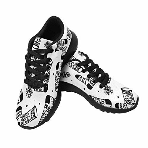 Interestprint Mujeres Jogging Running Sneaker Ligero Go Easy Walking Comodidad Deportes Zapatos Atléticos Botas De Navidad Multi 1