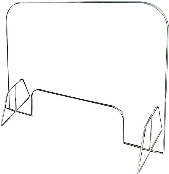 CFYP Mampara Metacrilato - Escudo de Plexiglás Acrílico Transparente para Mostradores y Ventanas de Transacciones (60 x 50 cm): Amazon.es: Hogar