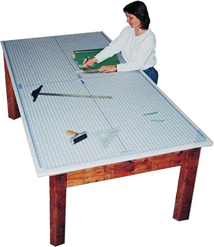 Large Tabletop Protective Mat - Speedpress (4 ft. L x 6 ft. W with Grid) by Alvin and Company