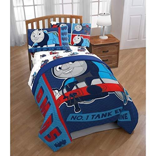 Thomas The Tank Engine 4pc Twin Comforter and Sheet Set