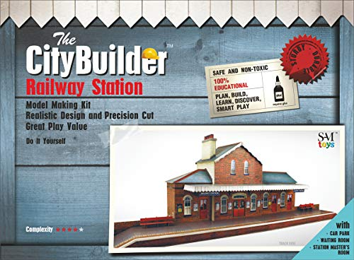 - The CityBuilder O Gauge 1:48 Scale Railroad Station Cardboard Model Making Kit Model Railroad Building