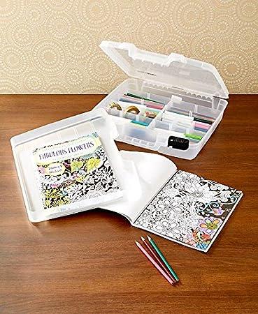 Coloring Book u0026 Supply Storage Case & Amazon.com: Coloring Book u0026 Supply Storage Case