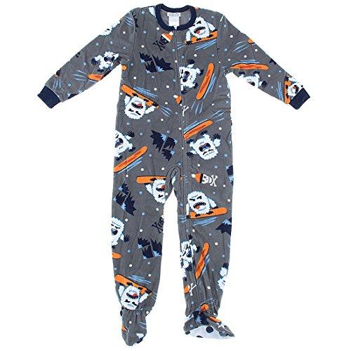 (Komar Kids Big Boys' Yeti Fleece Blanket Sleeper, Gray, X-Small)