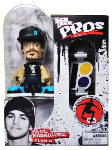 Tech Deck Pros Finger Skateboard 3-1/2 Inch Tall Pro Skater Action Figure Set - PAUL RODRIGUEZ