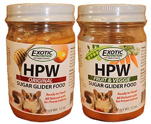 Exotic Nutrition HPW Combo (Original + Fruit & Veggie) - Treat for Sugar Gliders