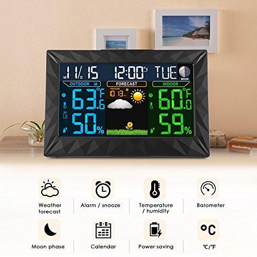 Ilifesmart Digital Color Forecast Weather Station Alarm