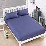 What Are the Measurements of a California King Size Bed Wall of Dragon Soild Color 100% Cotton Mattress Protector Covers Minimalistic Solid Color Bed Sheet Anti-Dirty Stretch Fixed Mattress Case