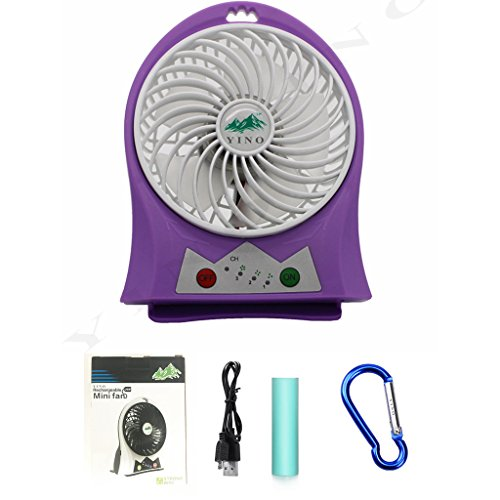 Electronics Tower Wall Entertainment Center (YINO Mini USB 3 Speeds Rechargeable fan,Portable Fan with 2200mAh Power Bank and Flash light,for Traveling,Fishing,Camping,Hiking,Backpacking,BBQ,Baby Stroller,Picnic,Biking,Boating (Purple))