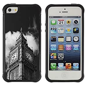 LASTONE PHONE CASE / Suave Silicona Caso Carcasa de Caucho Funda para Apple Iphone 5 / 5S / Architecture Big Ben Close Up London