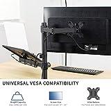 VIVO Black Fully Adjustable 13 to 32 inch Single